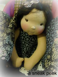 A sneak peak of one of my Waldorf dolls for my daughter